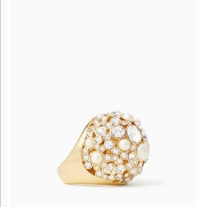 NWT Kate Spade Pick a Pearl Cocktail Ring, Size 6